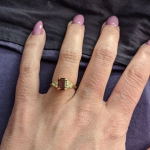 Purple and clear cz ring